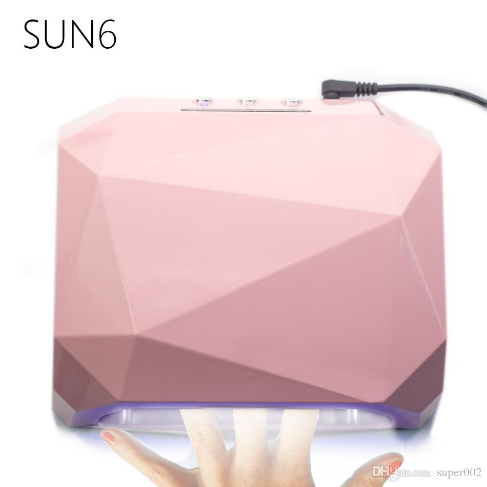 2018 Sun6 36w Auto Uv Lamp Uvled Nail Lamp Nail Dryer Diamond Shaped  365nm+405nm Curing For Uv Gel Nails Polish Nail Art Tools 106 From  Super002, ...