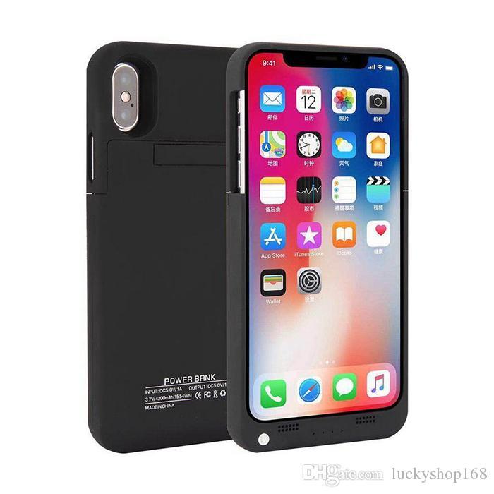 Iphone x için harici pil yedekleme güç bankası şarj kapak case powerbank kılıf için iphone 7 8 plus 4.7