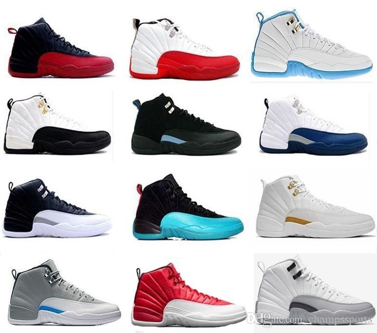 7717e54e7c9 Hot Sale 12 XII Mens Basketball Shoes Men French Blue Playoffs Taxi Wool Flu  Game University Blue Wolf Grey Sports Sneaker Size 8-13 J12 Ovo White J12  Taxi ...