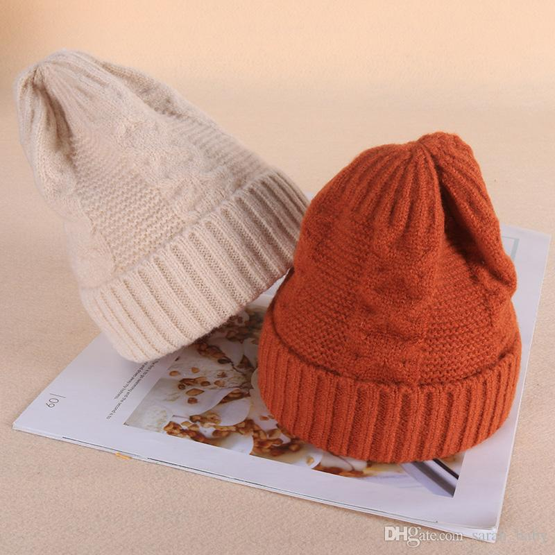 2019 2018 NewChildren S Wool Hat Boy 1 3 6 Years Old Boys Girls Children Knit  Hat Autumn And Winter Warm Headgear Primary Student Hat Online Free From ... b5a34edfe54