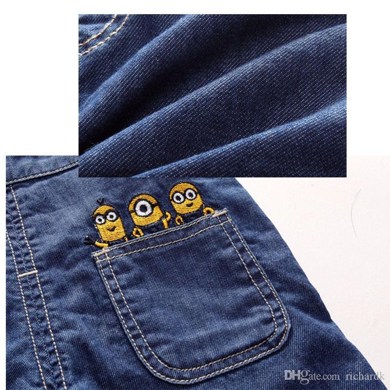 Meninos Meninas Set Crianças Denim Shorts / Longs Terno Roupa Dos Miúdos T Shirt E Roupas Asseclas 1-6 Anos