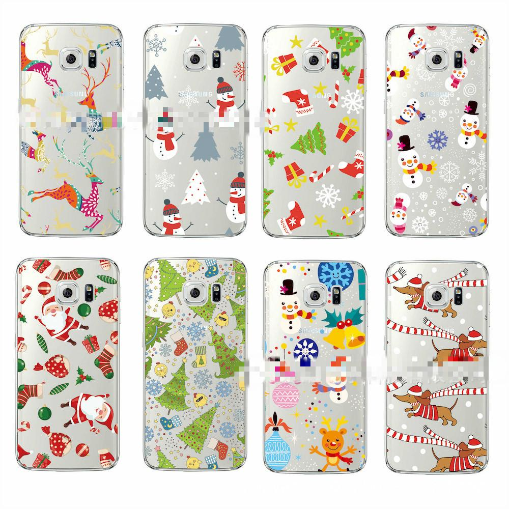 Christmas Phone Case For IPhone 6/7/8/X Clear Painted Cartoon ...