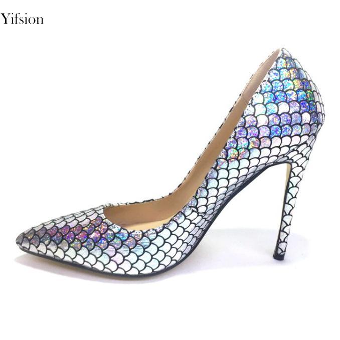 fdfc0feaa9 Compre Yifsion Nuevas Mujeres De La Moda Bombas Sexy Stiletto ...
