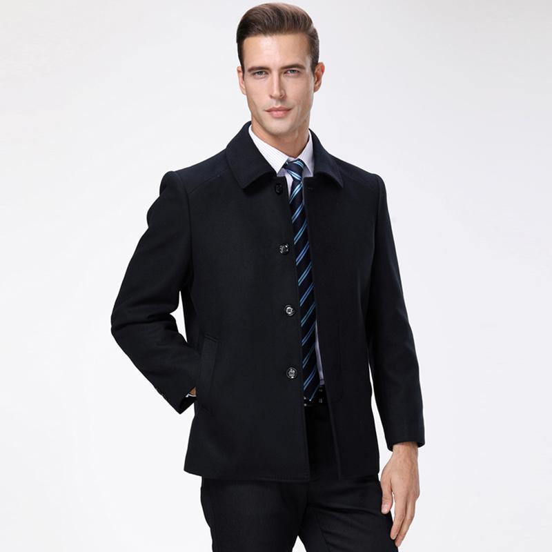 604dffcdbee1 Großhandel 2018 Winter New Fashion Brand Mantel Herren Wolle Slim Fit  Peacoat Warme Jacke Wolle Mischt Mantel Ausgestattet Schwarz Casual Herren  Kleidung ...