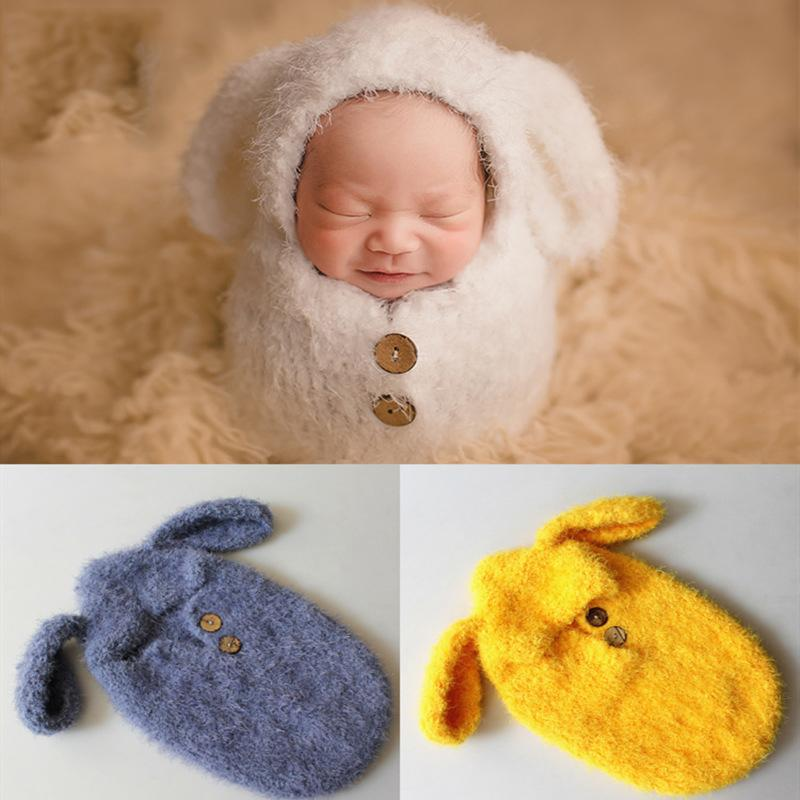 17a577666 2019 Newborn Baby Photography Props Crochet Handmade Puppy Hats Wool Manual  Knitting Potato Sleeping Bag For Infant Toddler Photo Outfits From  Opps_mybaby, ...