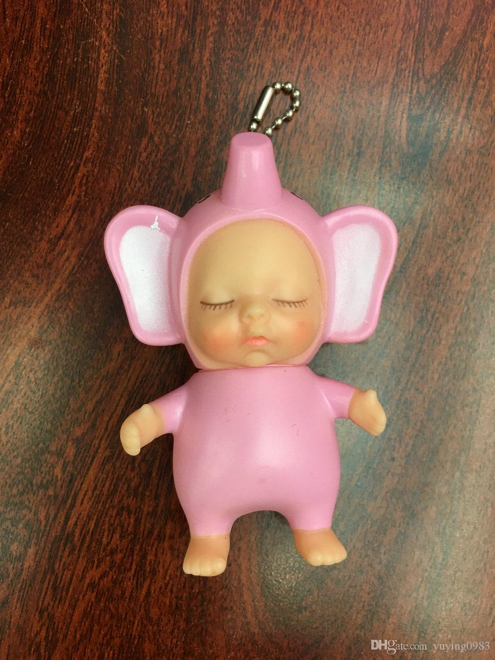 Bulk Keychains Cute Sleeping Baby Cartoon Doll Keychain PVC Mixed 12pcs Lovely Key Chain Car Keyring Key Holder Bag Pendant Charm Pendants