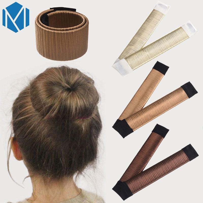 Kids Girls French Hair Bun Maker Donut Styling Hair Fold Wrap Snap