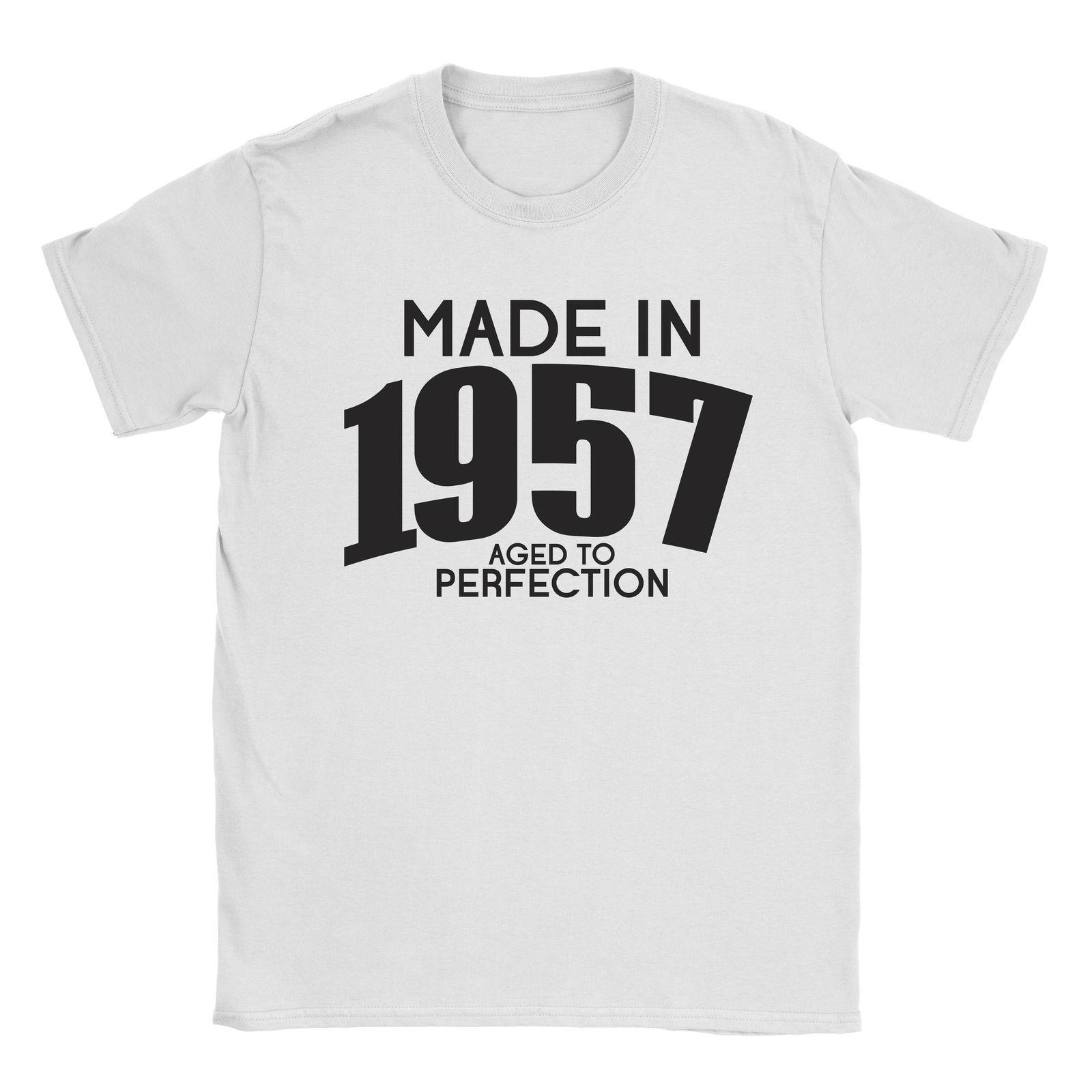 Made In 1957 Mens T Shirt 60th Birthday Gift Present Vintage 2018 New Men Shirts Fashion Comfortable Fabric As Tee Awesome For From