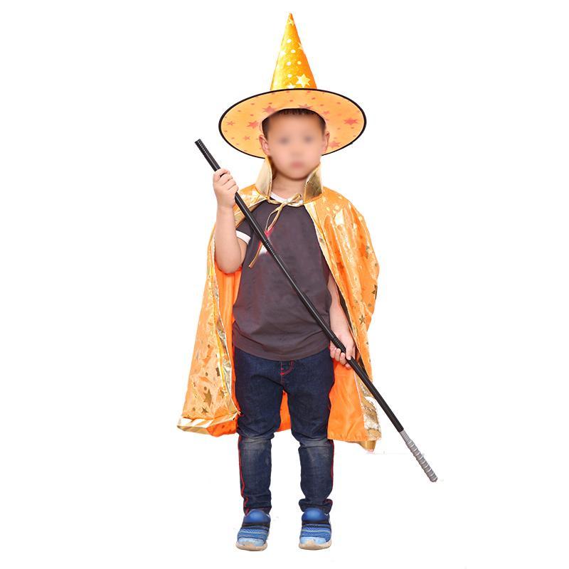 Acquista 2 Pezzi   Set Costumi Di Halloween Con Stelle Modello Strega  Guidata Mantello Con Cappello Bambini A  14.54 Dal Haolingame  3006e0cdaadb