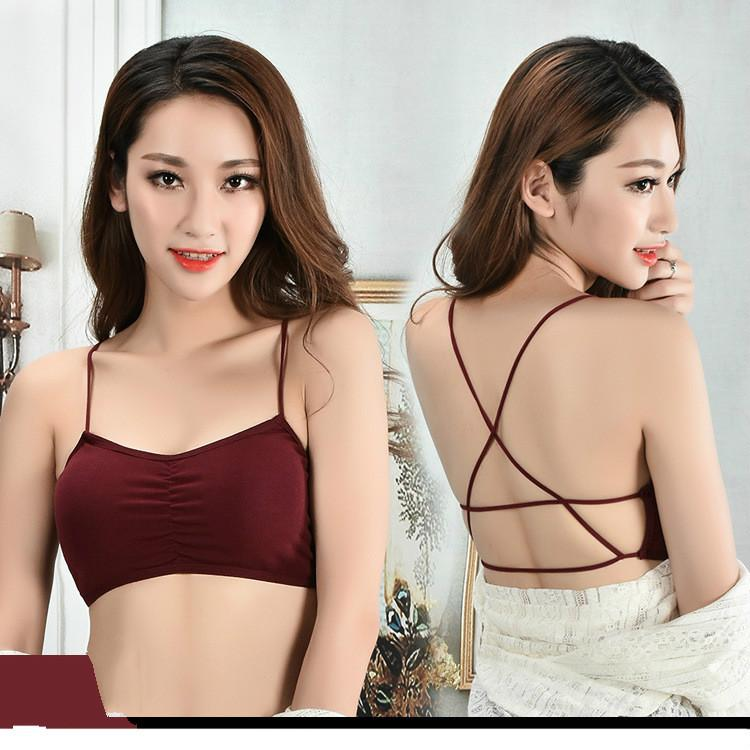 afb9a09ff7354 Women Crop Tops Camisole Camis Solid Colors Bralette Underwear Strappy  Padded Bra Tops Cotton Vest Tank Top UK 2019 From Tutucloth