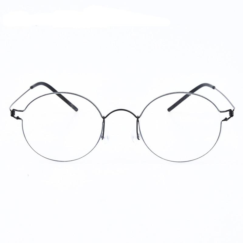 ddf7355dd1 Creative Round Framed Glasses Innovative Screwless Eyewear Brand Ultralight  Myopia Lenses Oculos De Grau With Original Case Eye Glass Frames Eye Glasses  ...