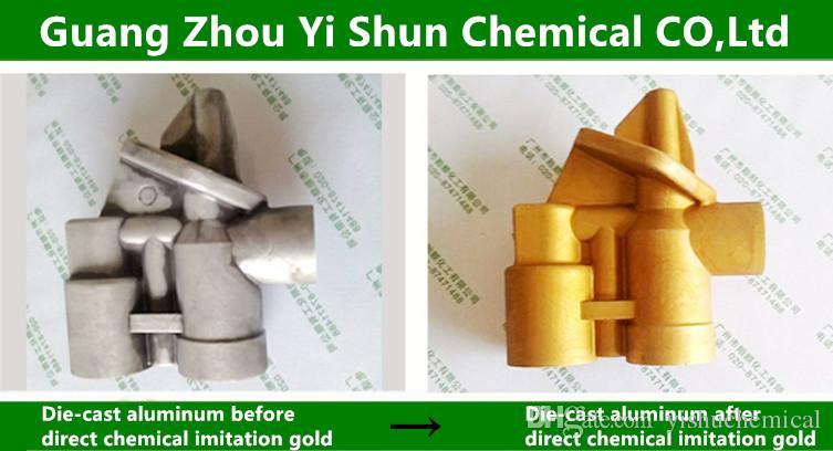 Metal surface treatment agent die-cast aluminum chemical imitation gold  passivation agent has passivation protection treatment effect