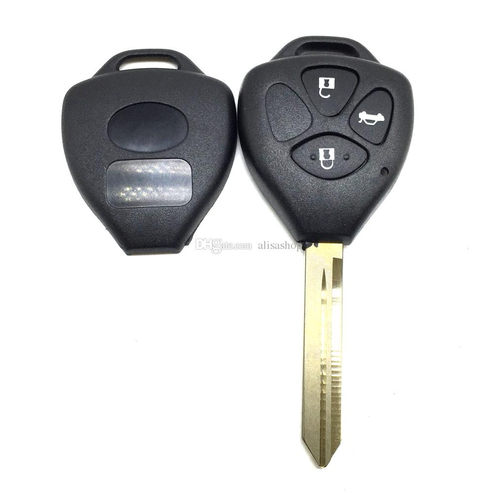 car key case for Toyota Crown 3 buttons remote car key shell Replacement key case shell for toyota TOY47 blade