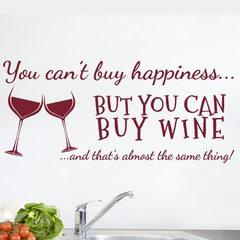 You Canu0027T Buy Happiness Wine Wall Art Stickers Funny Bar Pub Vinyl Wine  Decoration Floral Wall Stickers Flower Wall Decal From Xymy757, $16.59|  Dhgate.Com