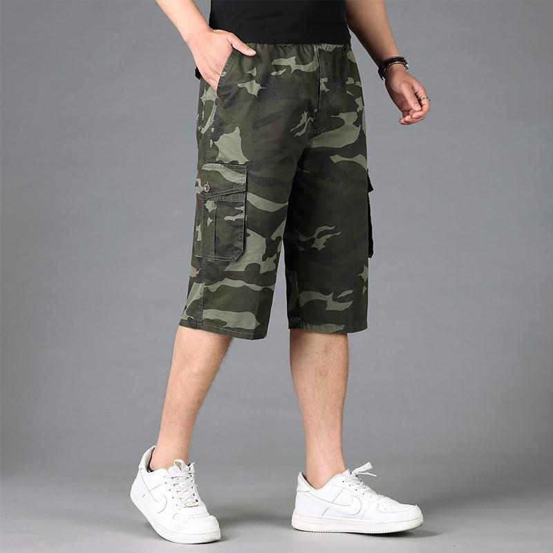84b3786847aec 2019 Plus Size Cotton Mens Cargo Shorts XL 5XL 6XL Male Loose Camouflage Large  Men Short Trousers Shorts Men Pockets From Elseeing