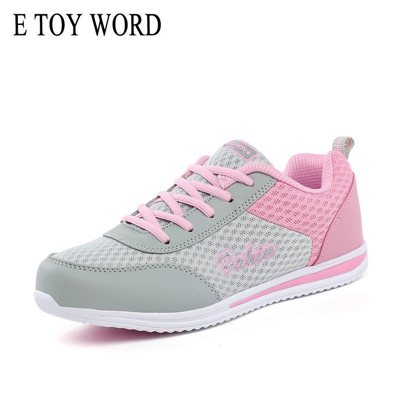 2019 E TOY WORD Women Sneakers 2018 New Fashion Breathable Mesh Women  Casual Shoes Lightweight Walking Sneaker Tenis Feminino Sneakers Purple  Shoes Scholl ... ab64fd7d1