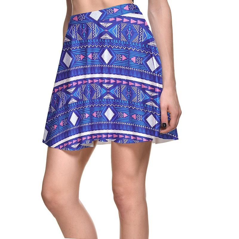 2018 Blue New Women Sexy Pleated Skirts Tennis Bowling Bust Shorts