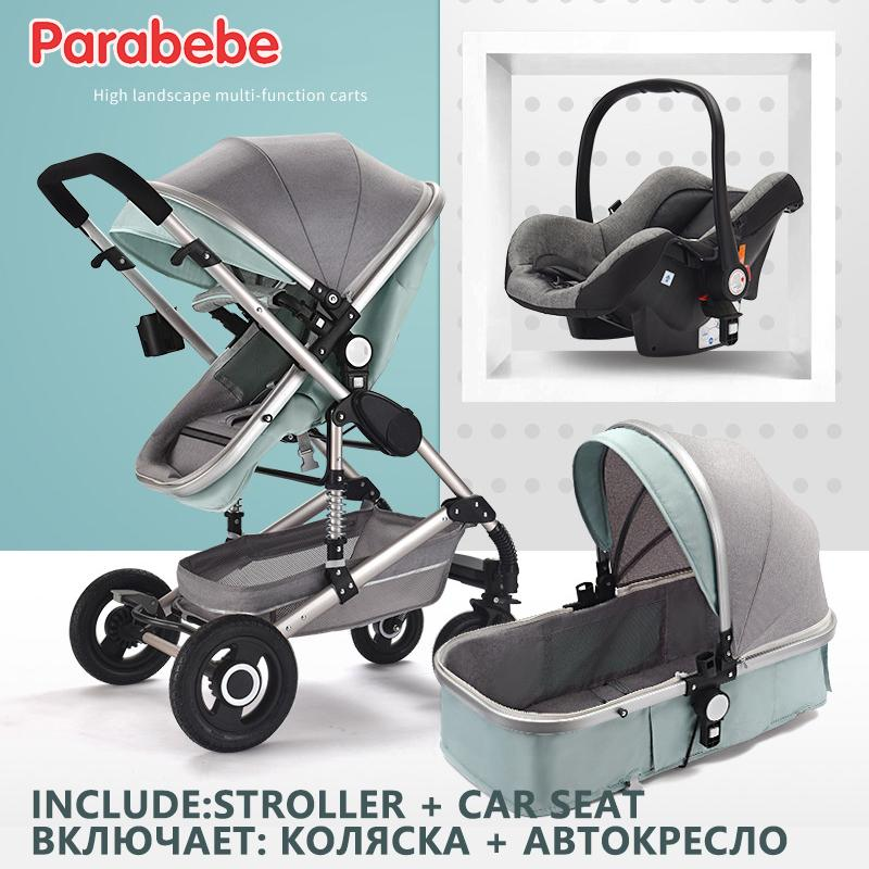 2019 6 Gifts Luxury Baby Stroller 3 In 1 Newborns Infant Car Seat