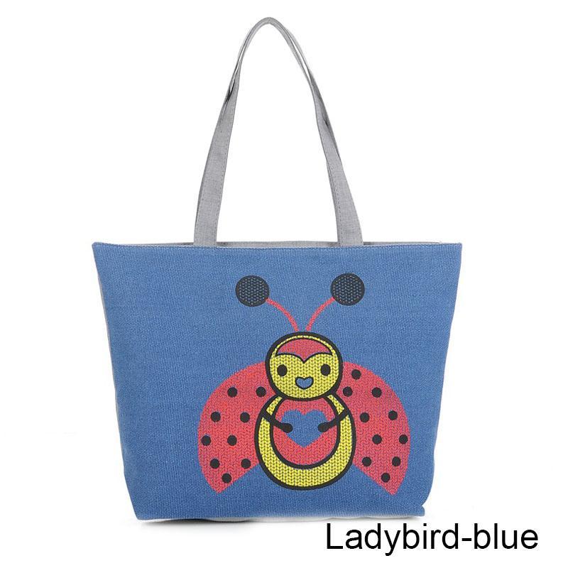 96d86e8d760 Women Canvas Shopping Bag Eco Foldable Tote Pouch Folding Shopping ...
