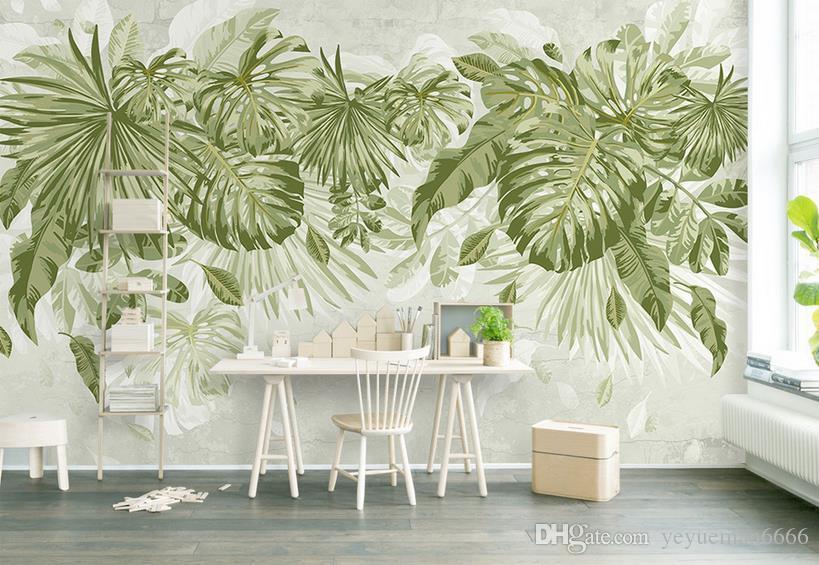 3d Background Wallpaper Green Leaf Soundproof Wallpaers For Living Room 3d  Wallpaper Wallpapers Hd Wallpapers Hd Background From Yeyueman6666, ...