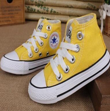 Werbe Heißer Verkauf Kinder Segeltuchschuhe Mode High Low Kinder Schuhe Jungen und Mädchen Sport Klassische Segeltuchschuh Größe 23-34