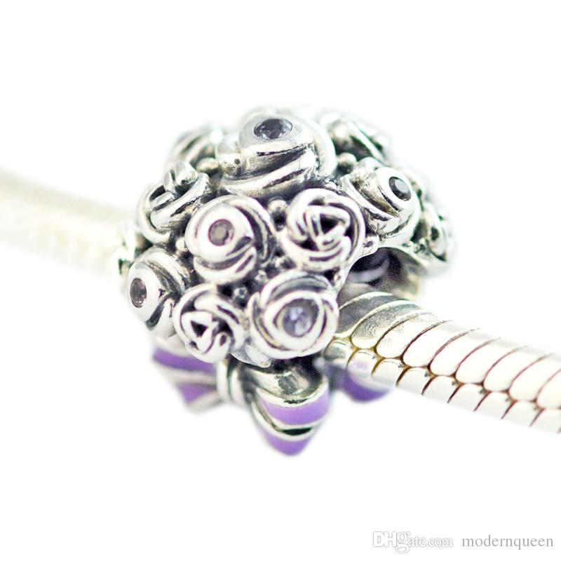 cd9388738 2019 Celebration Bouquet Charms S925 Silver Fits For Pandora Style Bracelet  797260NLC H8 From Modernqueen, $11.26 | DHgate.Com