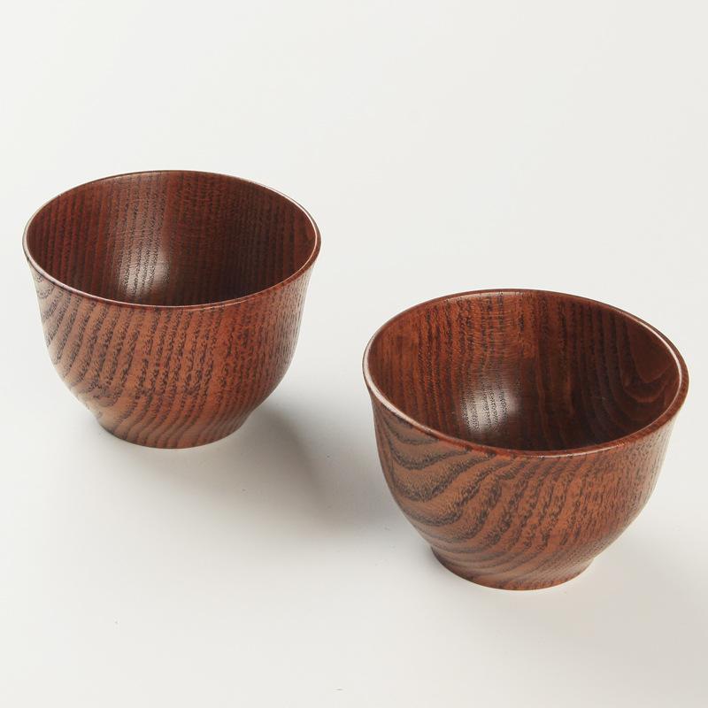 натуральный деревянный круглый салат чаша кухня ручной работы с фруктами райс чаша кухонные принадлежности