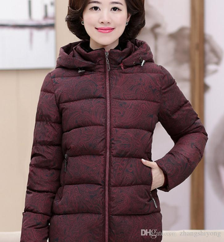 a492bbb96c Free send Mom cotton-padded clothes women's winter 2018 new style Middle age  and old age thickening coat