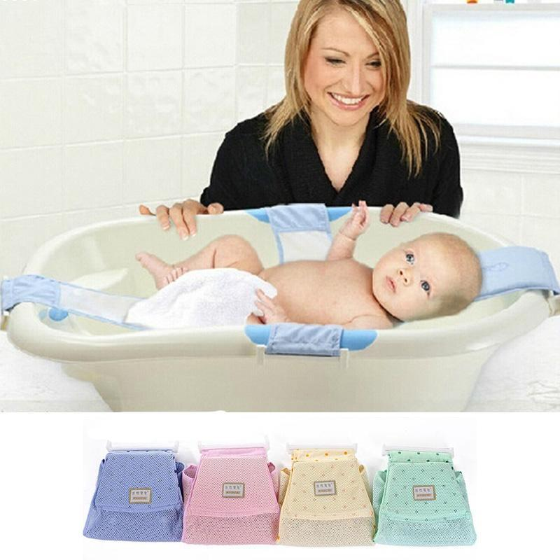 2018 Newborn Baby Bath Tub Seat Soft Baby Bathtub Rings Net Children ...