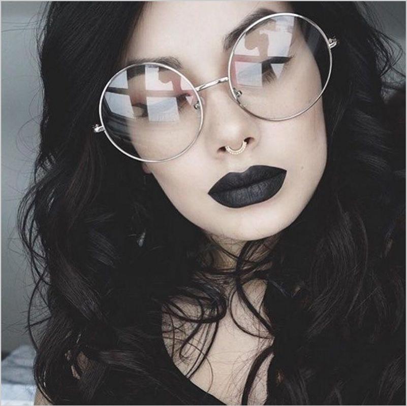c38dd490cf825 WISH CLUB New 2018 Fashion Retro Round Glasses Frame For Women Men Circle  Metal Frame Eyeglasses Clear Lens Eye Glasses Unisex Tifosi Sunglasses  Cheap ...