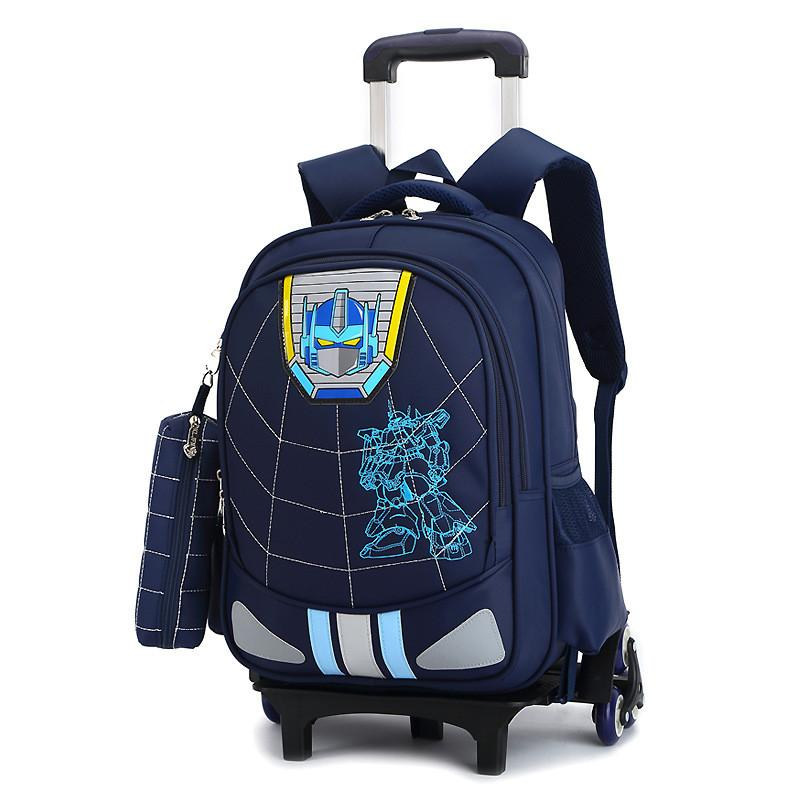 a882f8a546 New Kids 2 6 Wheels Removable Trolley Backpack Wheeled Bags Children School  Bag For Boys Girls Travel Bags Child School Backpack School Bags For Teens  ...