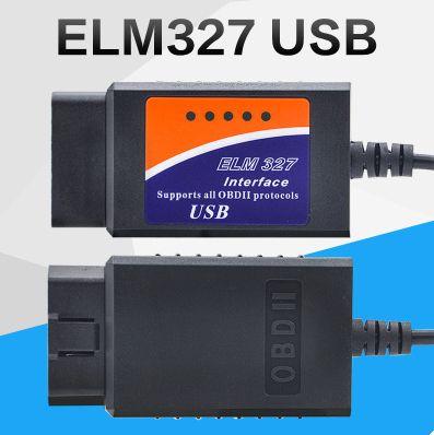ELM 327 USB Plastic Codelezer OBD II Diagnostische kabel ELM327 USB-scanner Hot Selling Hoge kwaliteit