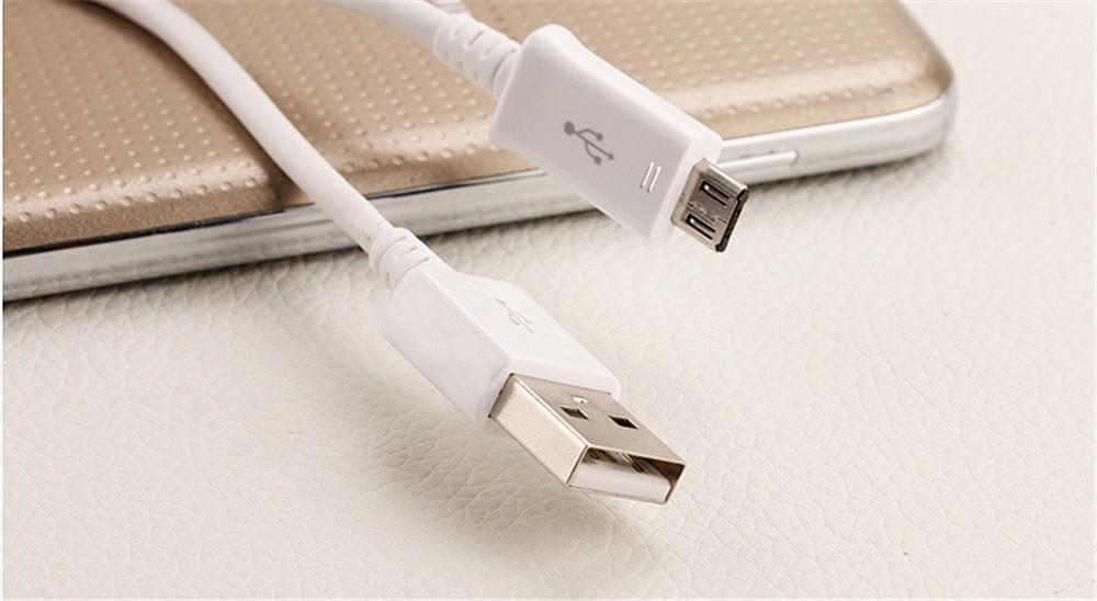 1.5 m cabo micro usb estendido para android telefone samsung htc sony lg 5ft cabo de carregamento de dados de alta velocidade de transferência de energia branco