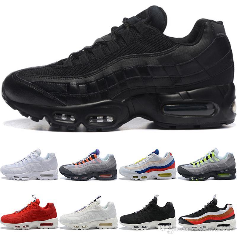 f9548ac4b3f 2019 Designer 95 Japan TT Men Women Running Shoes 95s SE Triple Black White  Neon Grape What The Trainer Sport Sneaker Wholesale Dropshipping From ...