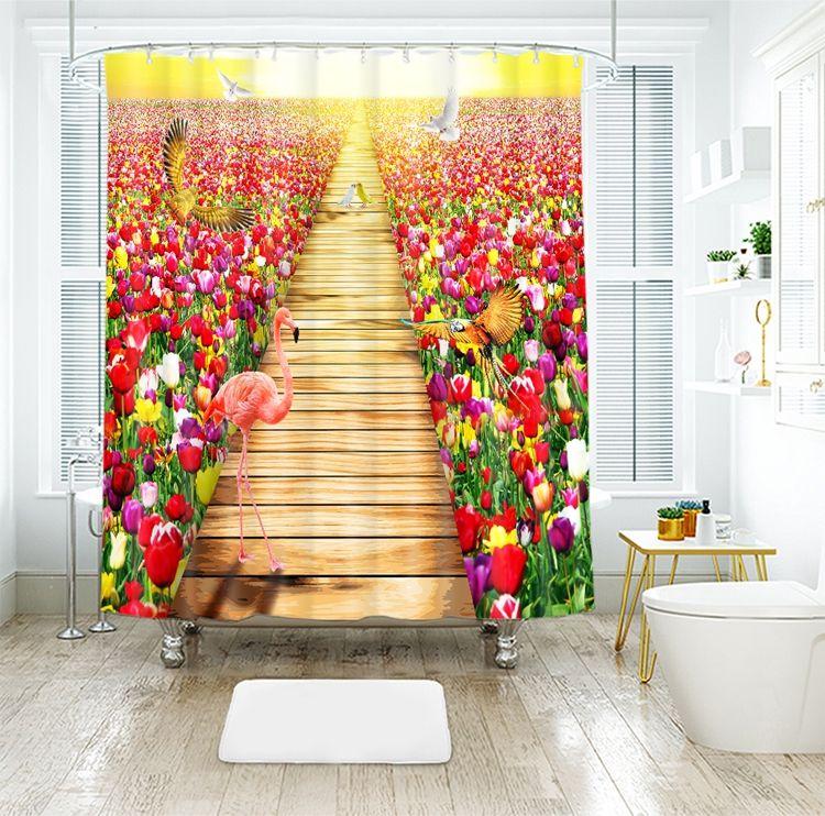 2018 Bathroom Accessories Park View Wooden Bridge Digital Print ...