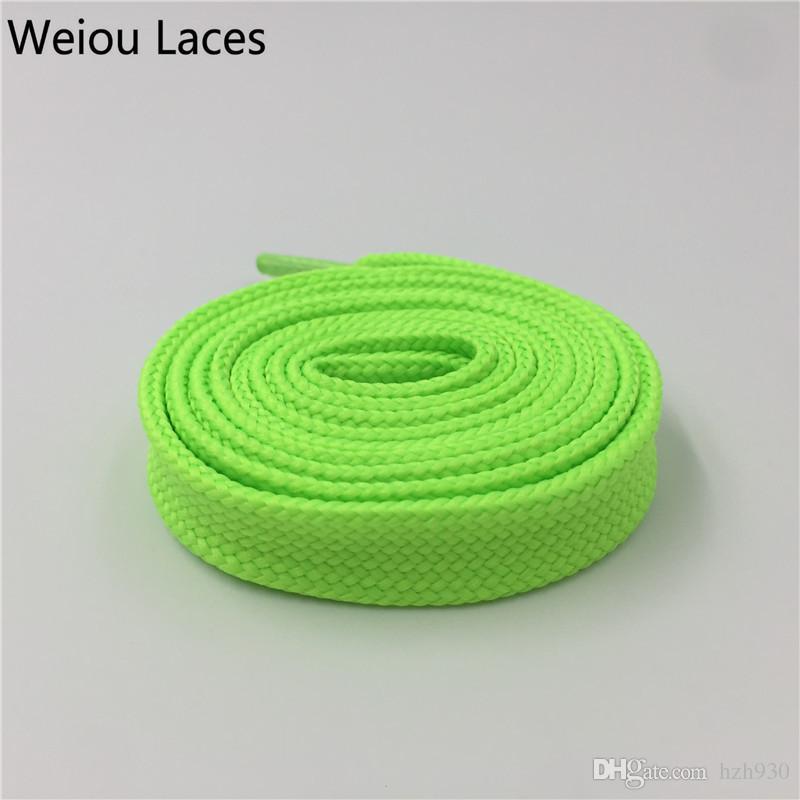 Weiou New Arrived 1.8cm Width Multi Colored Fat Polyester Double-deck Shoelaces Flat Soft Shoe Laces For Women Men Kids Shoe Decoration120cm