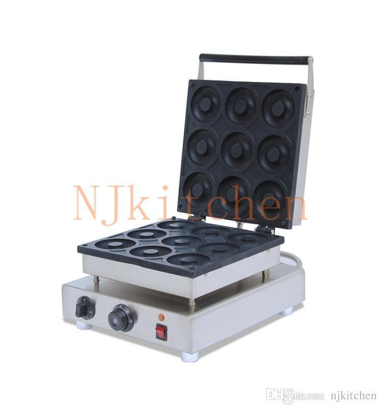 Ücretsiz kargo Paslanmaz Çelik Elektrikli 220 V 110 V Donut Maker Makinesi Ticari Mini Donut Maker Makinesi Ekipmanları hızlı nakliye göndermek
