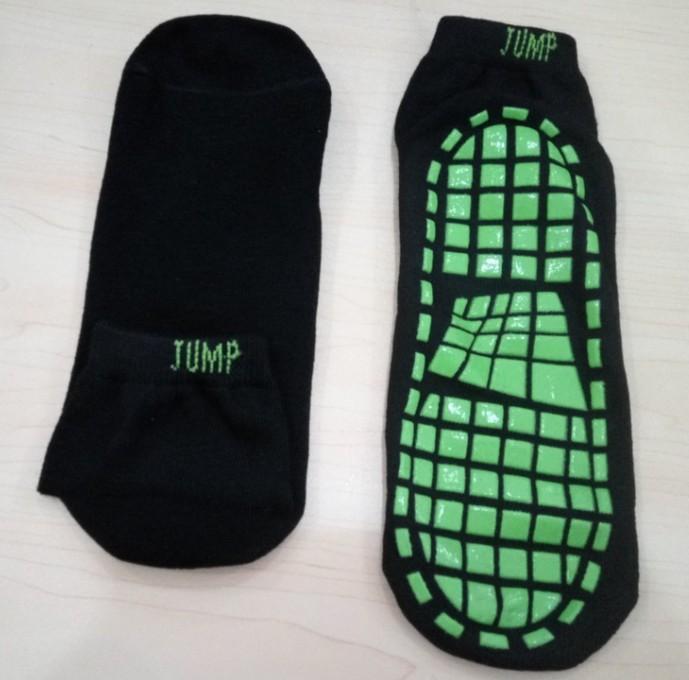 Yoga Meias Hot Sell Piso Meias Anti Friction Bouncing trampolim meias, salto Socks