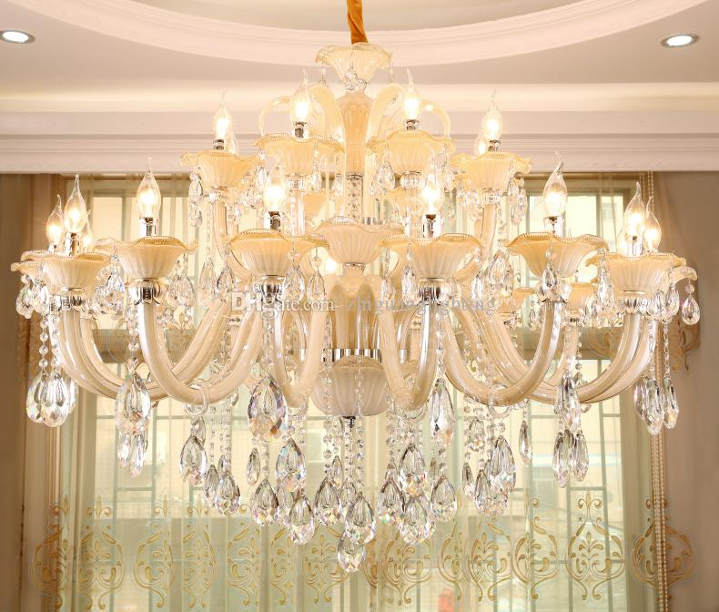 European style living room large chandelier villa duplex crystal european style living room large chandelier villa duplex crystal chandelier creative hall double atmosphere candle lighting chandelier shades small aloadofball Gallery