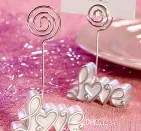 cariel Love WEDDING Place Card CLIP Holder wedding photo frame/table card holder Wedding Favor Party supplies EMS Z511B
