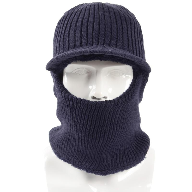 2687684305d 2019 2018 New Winter Plush Knitted Hooded Neck Warmer Cap For Women Men Ski  Bike Wind Stopper Face Mask Thick Warm Beanie Hat Scarves From Simmer