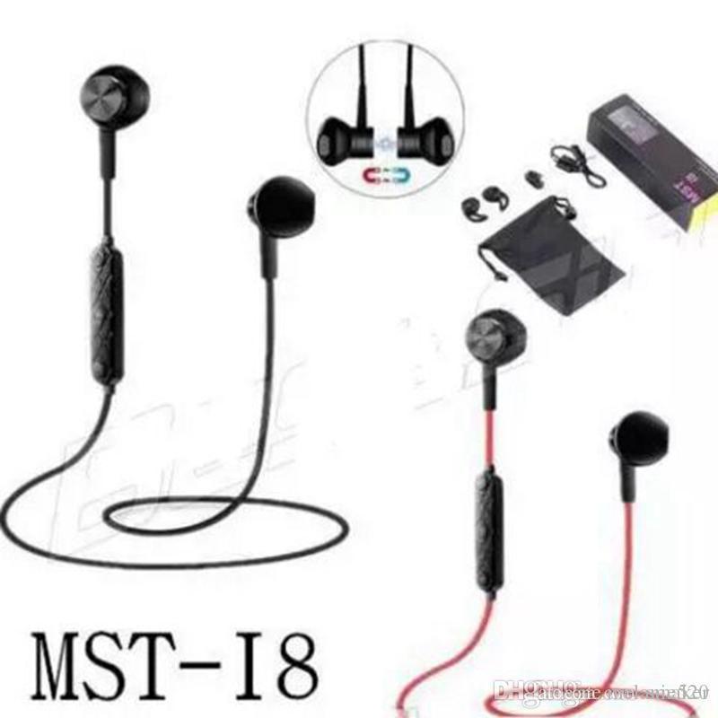 Cuffie Smartphone MST I8 Magnete Sportivo Auricolari Bluetooth Senza Fili  V4.1 Stereo Con Auricolare Da Corsa Magneto Riduzione Del Rumore Auricolari  Con ... 962c5b478e38