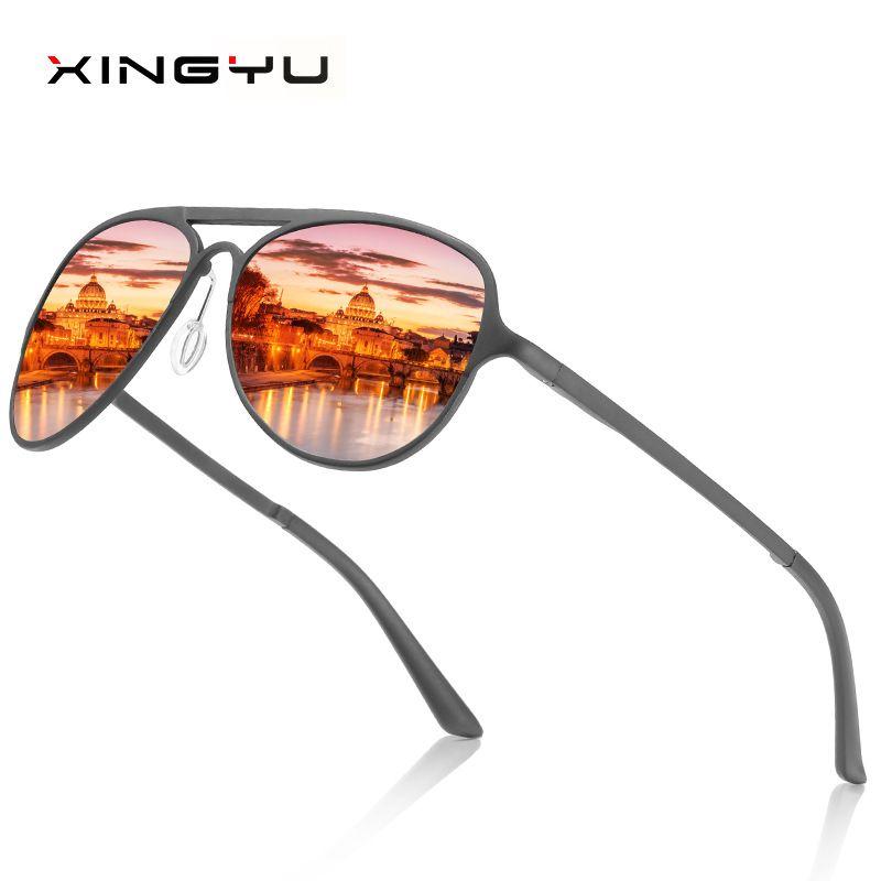 ab1f8be33e 2019 BRAND DESIGN Ultralight Pilot Sunglasses Men Aluminium Magnesium Polarized  Driving Sun Glasses Male Outdoor Sports Goggles Mirror Sunglasses Boots ...