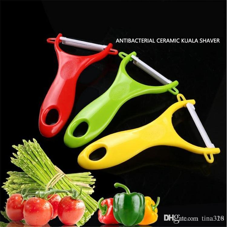 New Fruit Vegetable Ceramic Peeler Delicate New Kitchen Tools Zirconia Kitchen Cutlery Vegetable Fruit Peeler Paring Knife DHL 1818