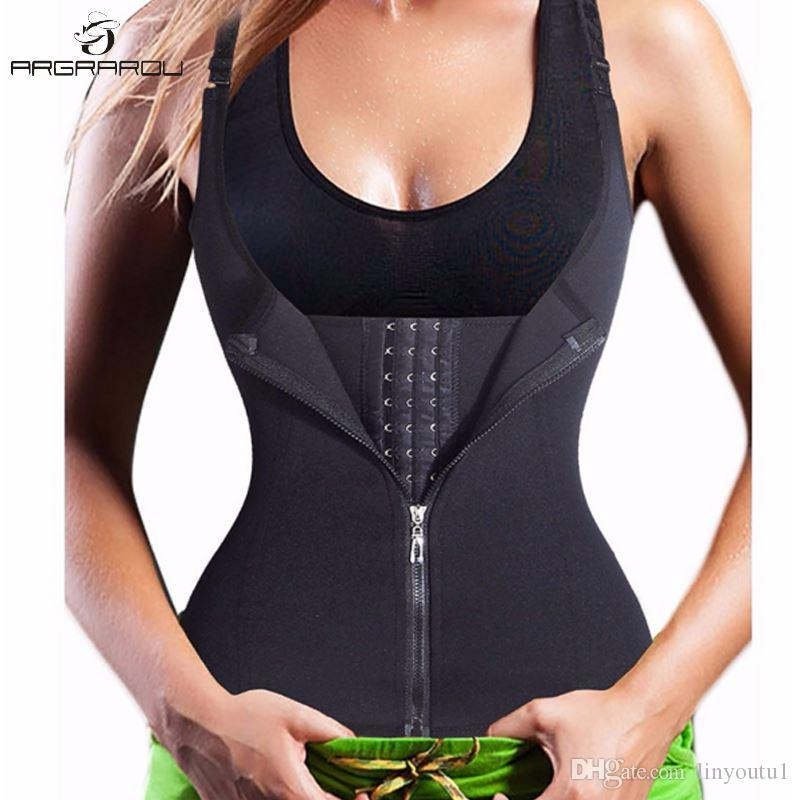 9ccb71b4c 2019 Hot Shapers Neoprene Sauna Sweat Vest Waist Trainer Cincher Women Body  Shaper Slimming Trimmer Corset Top Workout Thermo Trainer From Linyoutu1