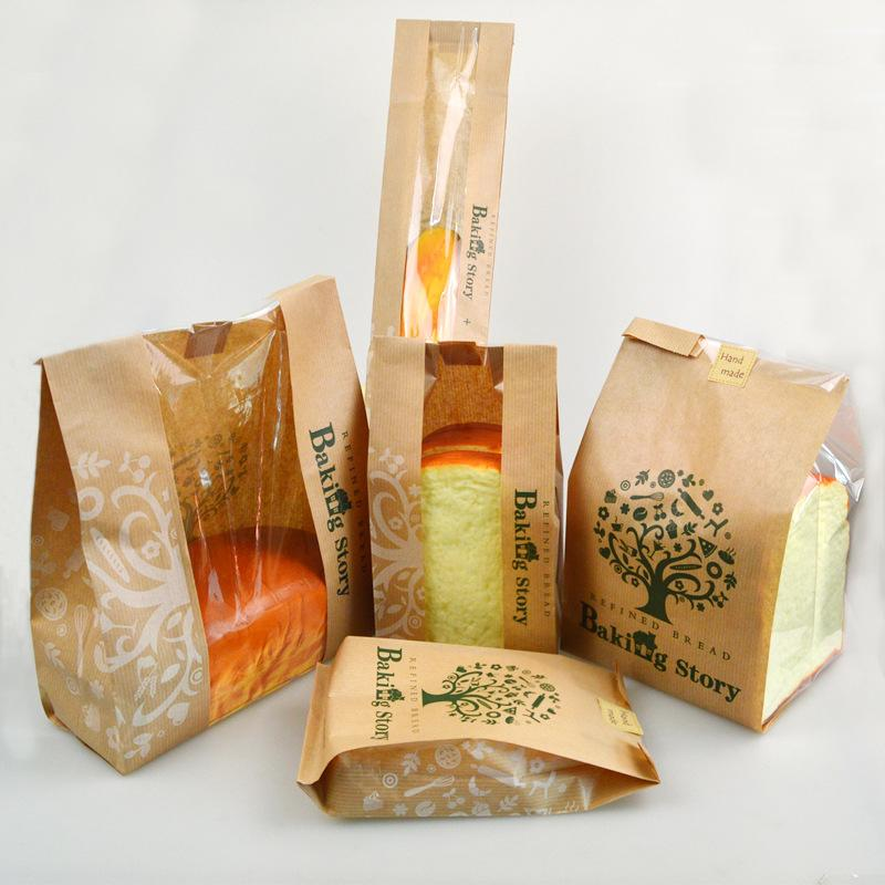 2019 Kraft Paper Health Tree Design Coated Bag Oil Proof Toast Baguette Packaging Bag With Window Bread Bags 5 Sizes From Right_my_cake_store, ...