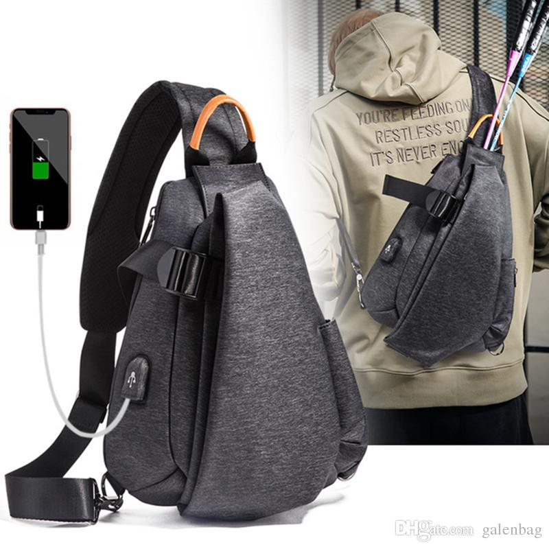 9127e757835b Sling Bags Men Shoulder Backpack Mini Chest Day Bag Small Fashion Outdoor  Multi Functional Cross Body Bag With USB Charging Port Handbags On Sale  Shoulder ...