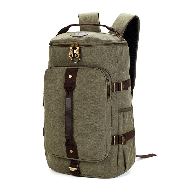 97a9d50b198f MCO Large Capacity Travel Backpack For Men Retro Waterproof Canvas Laptop  Bagpack Men S Weekend Duffle Bags Big Male Rucksack Y1890401 Designer  Backpacks ...