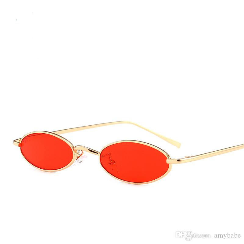 669cff54f6 Vintage Small Oval Sunglasses Slender Metal Frame Candy Colors UV  Protection Sunglasses For Women 8 Colour Select 7105 Vintage Sunglasses  Super Sunglasses ...