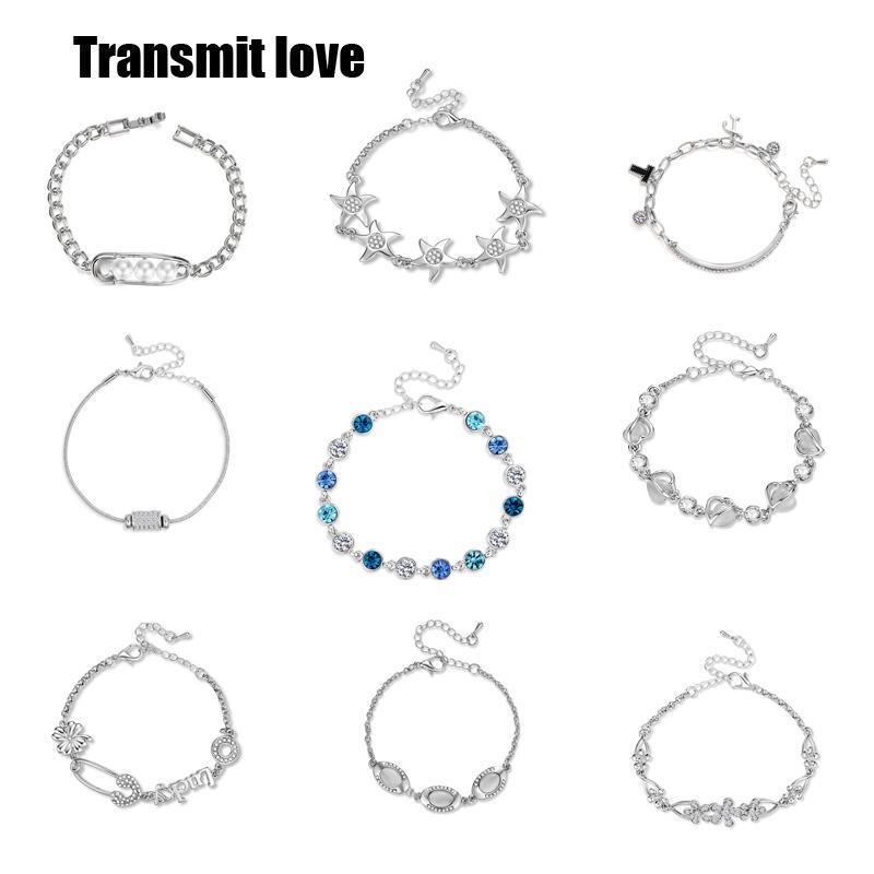 Transmettez Précieuse Précieuse Pour Avec Est Semi Bracelet Fille Femme Pierre L'amourLe Une La Zircon Mode De Nm80PyvwOn